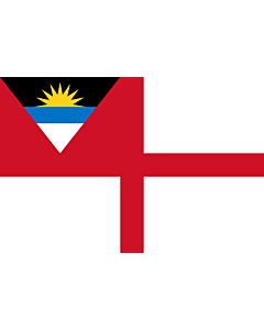 Fahne: Coastguard Ensign of Antigua and Barbuda
