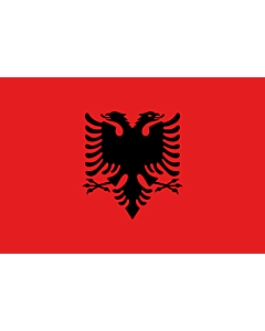Fahne: Albanien