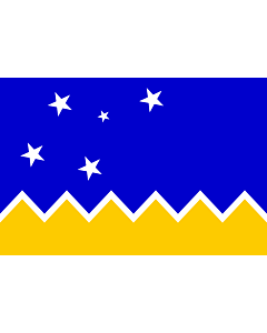 Fahne: Magallanes, Chile | Magallanes and Chilean Antarctica Region, Chile | XII Región de Magallanes y de la Antártica Chilena