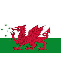 Fahne: Australian Welsh heritage