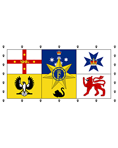 Fahne: Royal Standard of Australia | Queen Elizabeth II s personal flag for Australia
