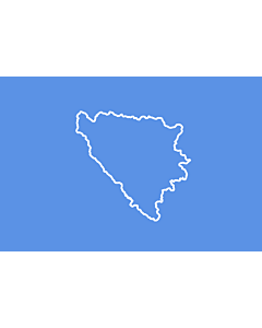 Fahne: BiH  First set of proposal 3 | Third alternative flag of the First set of Proposals for the Bosnian Flag change