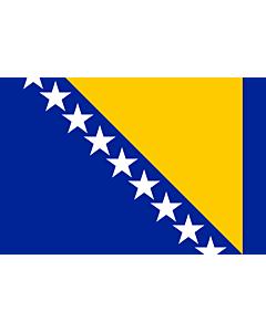 Fahne: Bosnien und Herzegowina