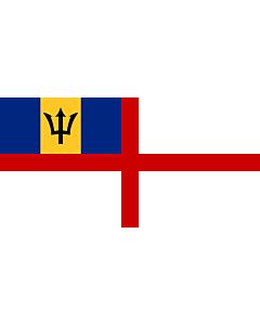 Fahne: Naval Ensign of Barbados