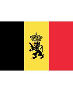 Fahne: Belgien