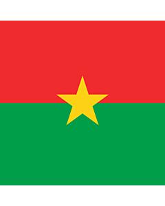 Fahne: Presidential Standard of Burkina Faso