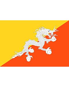 Fahne: Bhutan