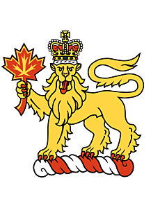 Fahne: Crest of the Governor General of Canada