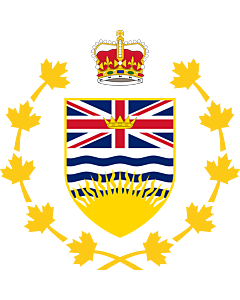 Fahne: Crest of the Lieutenant Governor of British Columbia