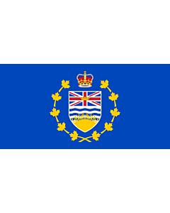 Fahne: Lieutenant-Governor of British Columbia | Lieutenant-gouverneur de Colombie-Britannique