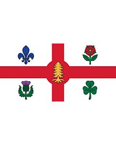 Fahne: Die Fahne der Stadt Montreal, Kanada