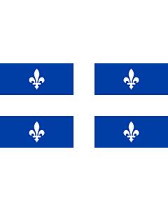 Fahne: Quebec  1-2 | Quebec with ratio 1 2 | Québec  proportion 1 2