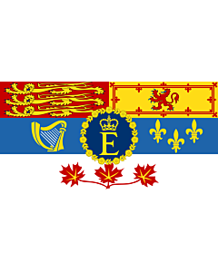 Fahne: Royal Standard of Canada   Queen Elizabeth II for personal use in Canada  1962–present   Reine Élisabeth II pour son usage personnel au Canada  1962–actuel