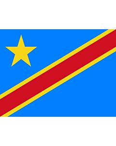 Fahne: Kongo, Demokratische Republik