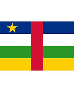 Fahne: Zentralafrikanische Republik