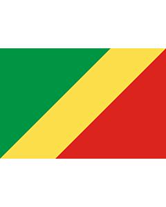 Fahne: Republik Kongo