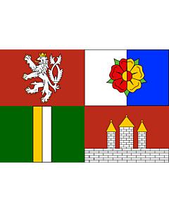 Fahne: Südböhmische Region