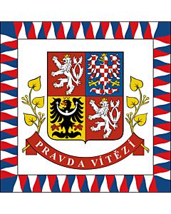 Fahne: Presidential Standard of the Czech Republic | President of the Czech Republic | Presidente della Repubblica Ceca | Prezidenta České republiky