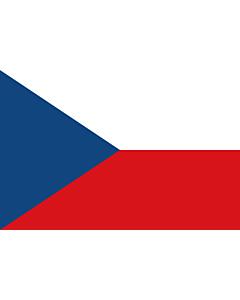 Fahne: Tschechien (Tschechische Republik)
