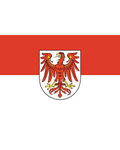 Fahne: Brandenburg