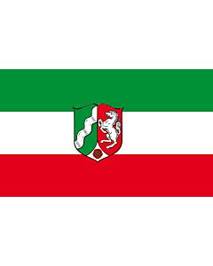 Fahne: Nordrhein-Westfalen