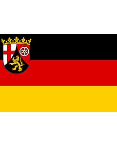 Fahne: Rheinland-Pfalz