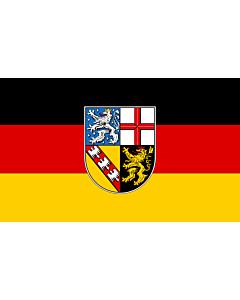 Fahne: Saarland