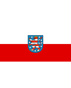 Fahne: Thüringen