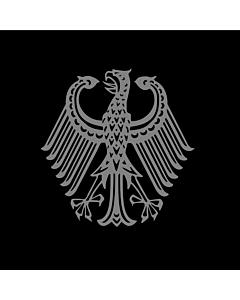 Fahne: Bundestrauerstander, Trauerstandarte der Bundesrepublik Deutschland