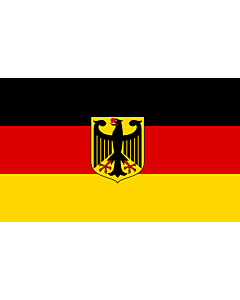 Fahne: Germany  unoff | State flag with coat of arms instead of  federal shield   unofficial variant