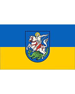 Fahne: Beschreibung der Fahne  Die Stadtfarben sind BlauGelb