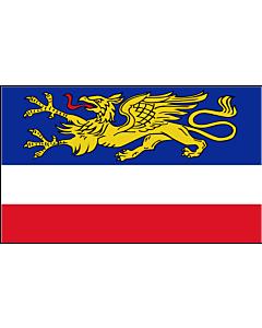 Fahne: Hansestadt Rostock
