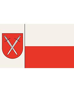 Fahne: Beschreibung der Fahne  Der Stadt ist ferner mit Urkunde des Regierungspräsidenten in Arnsberg vom 18.02.1977 das Recht zur Führung einer Fahne verliehen worden