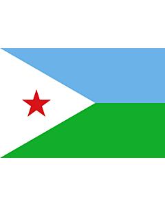 Fahne: Dschibuti