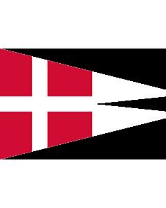 Fahne: Naval Rank Flag of Denmark - Chief of Squadron | Danish naval rank flag for the Chief of Squadron | Eskadrechefsstander