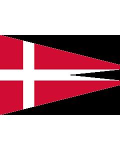 Fahne: Naval Rank Denmark Senior Officer Afloat