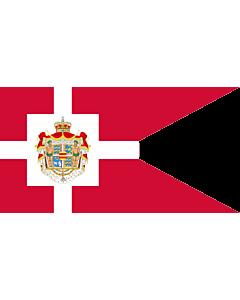 Fahne: Royal Standard of Denmark | Det danske kongeflag