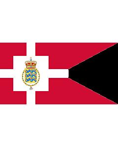 Fahne: Standard of the Crown Prince of Denmark | Det danske tronfølgerflag  bruges af H
