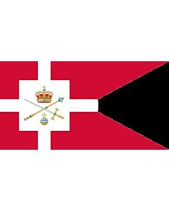 Fahne: Standard of the Regent of Denmark | Rigsforstanderflaget