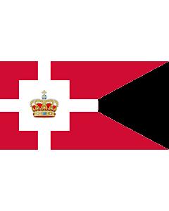 Fahne: Standard of the Royal House of Denmark | Kongehusflaget  bruges af alle medlemmer af den kongelige familie