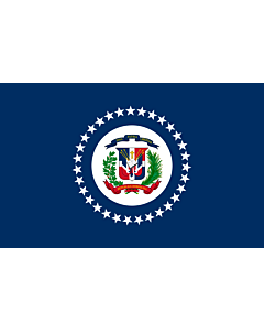 Fahne: Naval Jack of the Dominican Republic