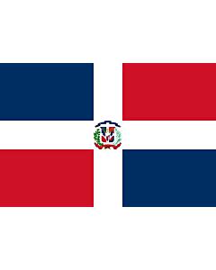 Fahne: Dominikanische Republik