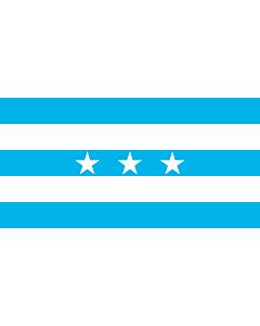 Fahne: Guayaquil | City Santiago de Guayaquil in Ecuador; Flag of the Guayas Province