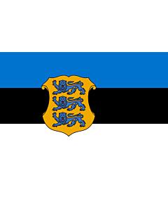 Fahne: Estonia - Minister of Defence   Estonian Minister of Defence   Kaitseministri lipp