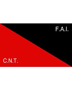 Fahne: CNT-FAI | Rossonera utilizzata dalla CNT-FAI  confederaciòn nacionàl de los trabajadores - federaciòn anarquista iberica