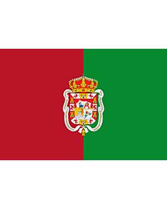 Fahne: Granada2 | City of Granada  Spain | La ville de Grenade est formé de deux bandes verticales d égale largeur la première | Ciudad de Granada  España  Bandera es de color carmesí y verde