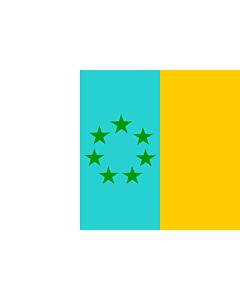 Fahne: Siete Estrellas Verdes | Esta es la bandera nacionalista canaria