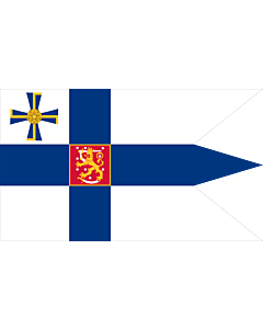 Fahne: Presidential Standard of Finland | Swallow-tailed state flag for the president of the Republic of Finland | Presidenta Finské republiky