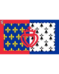 Fahne: Pays de la Loire