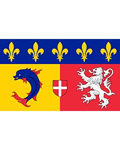 Fahne: Rhône-Alpes